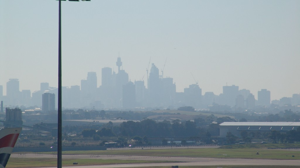 Sydney through the haze